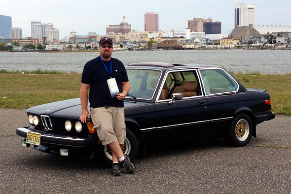 JT Burkard and his 1977 BMW 320i